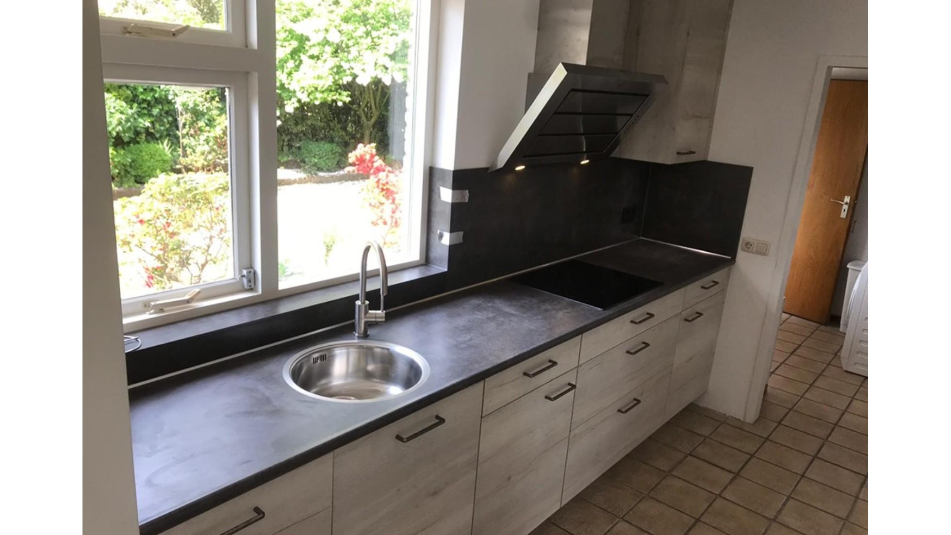 Primo Keukens Keukens Bij Onze Klanten Tijdloos Grijs Gemarmerde Nobilia Keuken